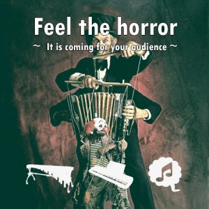 feel the horror percussion ensemble sheet music percussie bladmuziek
